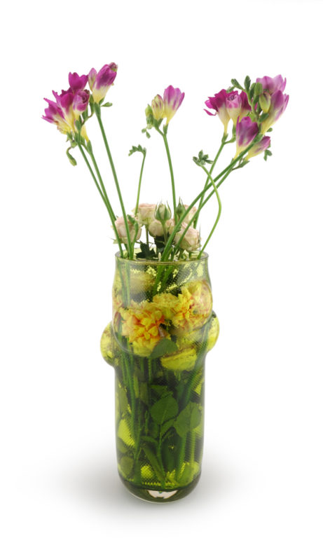 GIVERNY Vase Acid Green+ Flowers