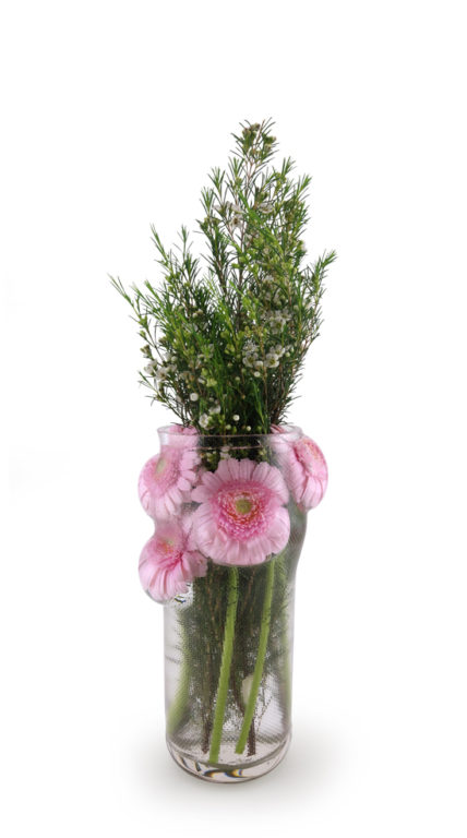 GIVERNY Vase Transparent + Flowers